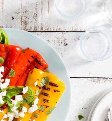 Salade van gegrilde puntpaprika's