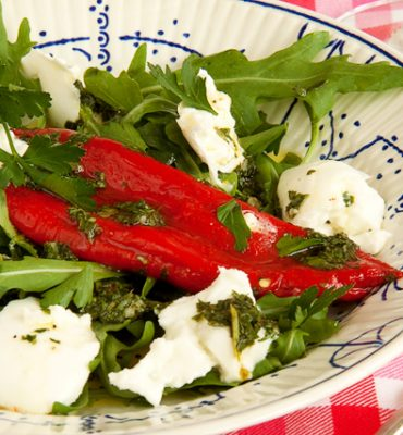 Marinated Ramiro Pepper with mozzarella di bufala